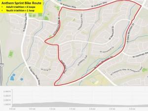 Anthem Sprint Triathlon Bike Route
